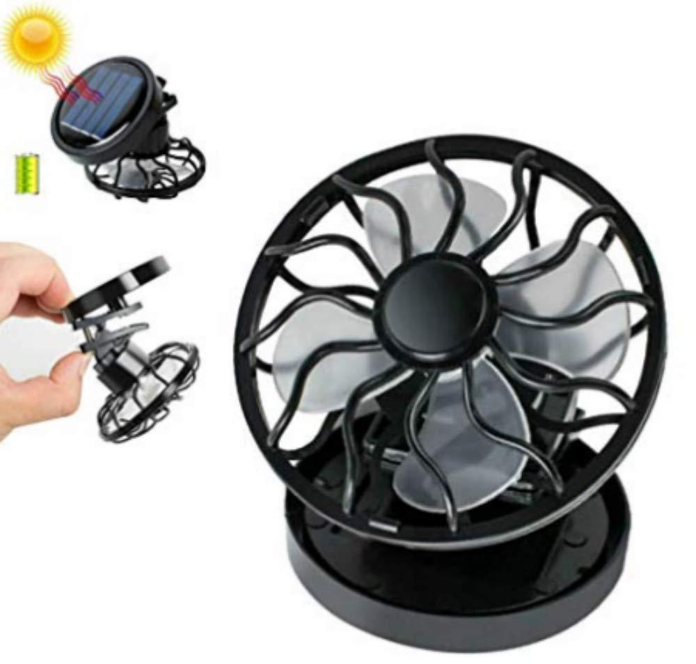 Enshey Portable Mini Solar Fan-Cooling Fan Hat Cap Fan Solar Powered Clip Fan Energy Saving Black Fan Cooler