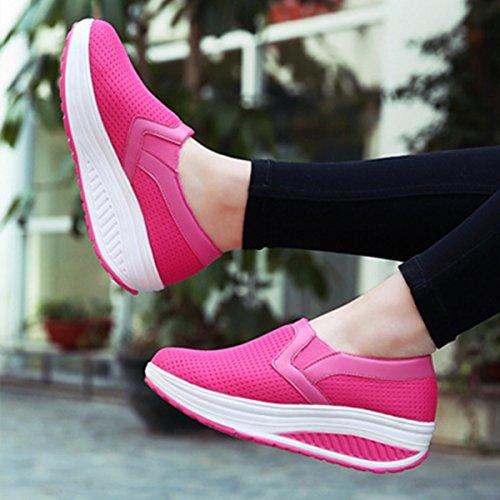 Scarpe Donne Outdoor Corsa Della Per Zeppe Gracosy Loafers Sportive Scarpa Running Mesh Platform Sneaker Fitness Mocassini Ragazze Rosa Donna Moda Sneakers Tennis 5HqPOC