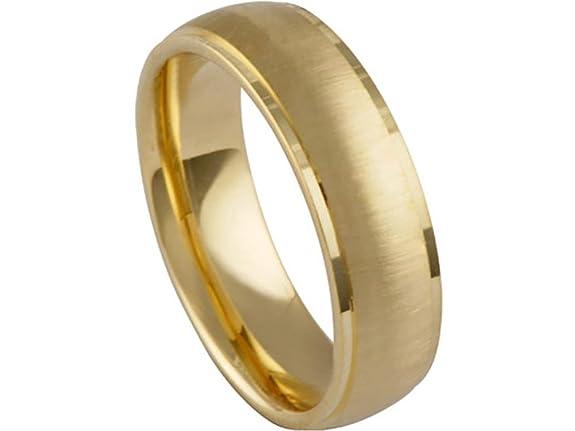 Size 6.5 Polished Edge Diamond Wedding Band Ring Real 14K Yellow Gold