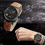 Pupug.TM Fashion Curren Men Sport Military Water Quartz Watch with Leather Strap (Black)