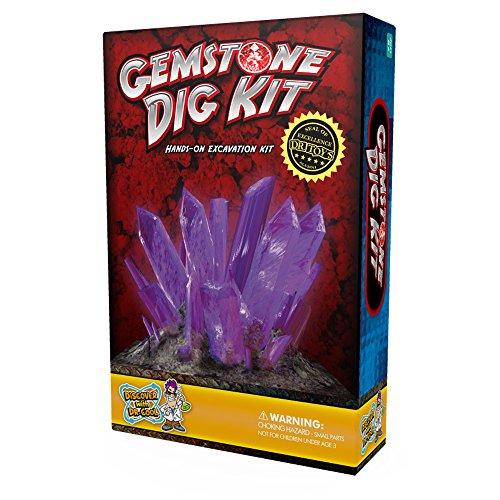 Gemstone Dig Science Kit – Excavate 3 Amazing Crystals