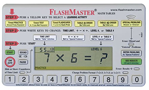 FlashMaster: Handheld computer for mastering arithmetic tables that makes flashcards obsolete