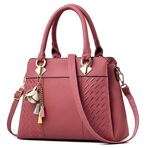 Day Borsetta Laptop Multi pocket Travel Rosa Messenger Lady Casual Bag Shoulder wxqSU4zCt