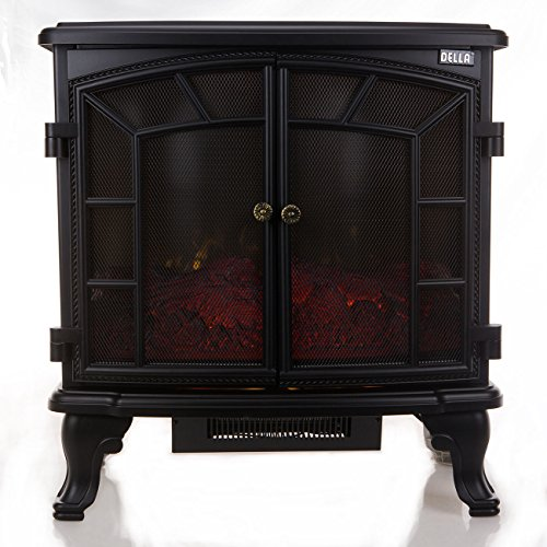 1500W Adjustable Electric Fireplace Heater Warm w/ Remote Fire Flame Stove Wood Stand