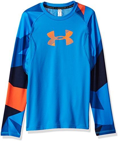 aeaccff3b Under Armour Boys' Big Logo Long Sleeve T-Shirt,Mako Blue /Mako Blue ...