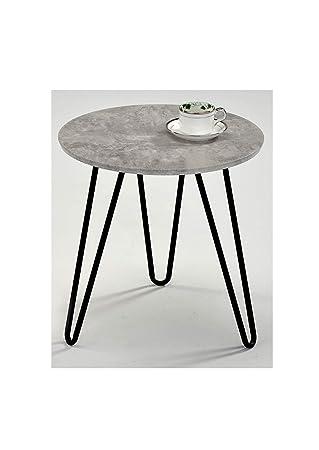 nouveau produit 0842f a9d86 Meubletmoi Table Basse Ronde Bout de canapé - Pied métal ...