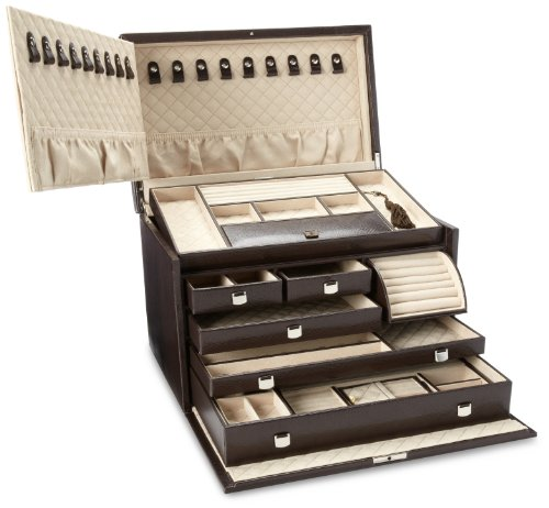 WOLF 315006 London Large Jewelry Box, Cocoa by WOLF (Image #2)
