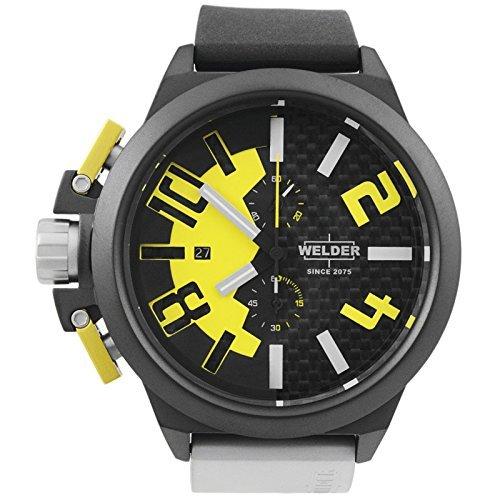 Welder by U-boat K35 Oversize Chronograph Black PVD Steel Mens Watch Yellow Dial K35-2502