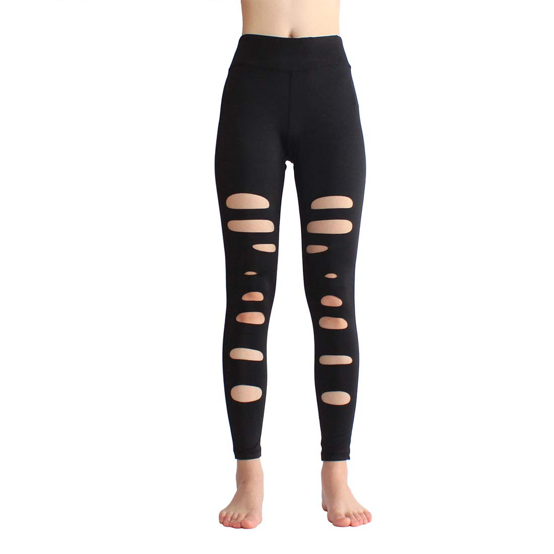 KEVIN POOLE Yoga Pants Hole Elasticity Nine Sports Running Fitness Applies Running Pants Women (Size   M)
