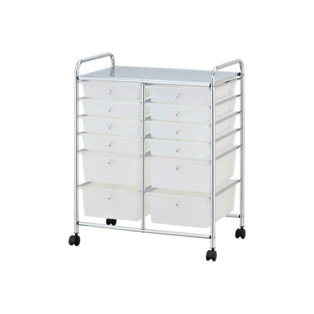 Low MOQ Plastic Storage cart with 12 Drawers