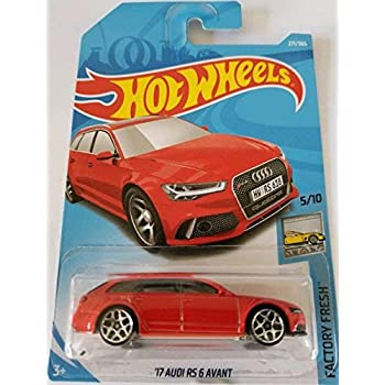 Hot Wheels 2018 50th Anniversary Factory Fresh 17 Audi RS 6 Avant 271/365, Red