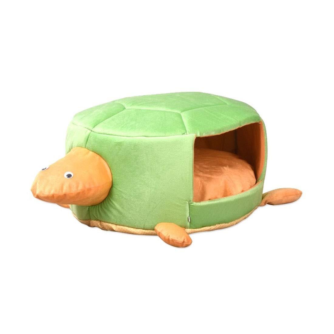 M Pink day-us Pet Bed Round Creative Cartoon Kennel Winter Warm Cat Litter Cartoon Small Dog Pet Nest (Size   M)