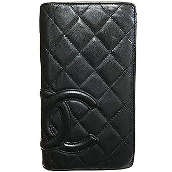 5c16aec3523d CHANEL(シャネル) 長財布 カンボンライン 二つ折り長財布 ソフトカーフ ブラック 黒 A26717