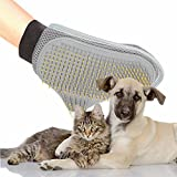 DXABLE Pet Grooming Glove - Gentle Deshedding Brush Glove - Efficient Pet Hair Remover Mitt - Massage Tool with New Design - Perfect for Dogs & Cats with Long & Short Fur (Single)