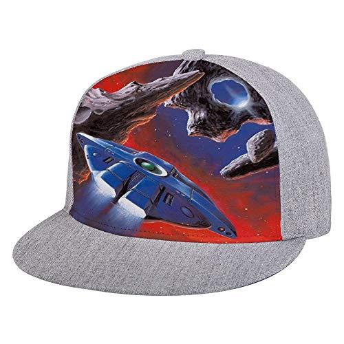 (Mens Womens SciFi Gallery Hat Crazy Baseball Cap Adjustable Snapbacks Trucker Cap Flat Brim Bill Hats Gray)