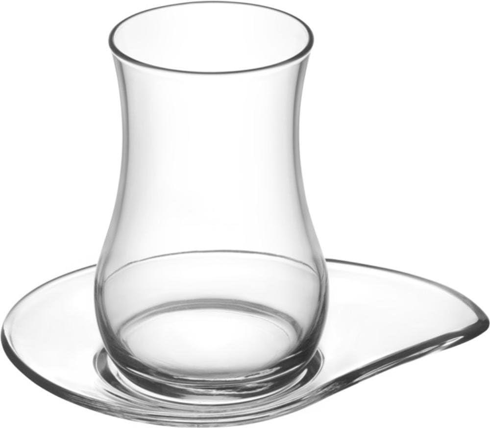 EVA -T/è orientale Set da 12/pezzi bicchieri da t/è turchi con piattini di alta qualit/à arabo 6/bicchieri 6/piattini