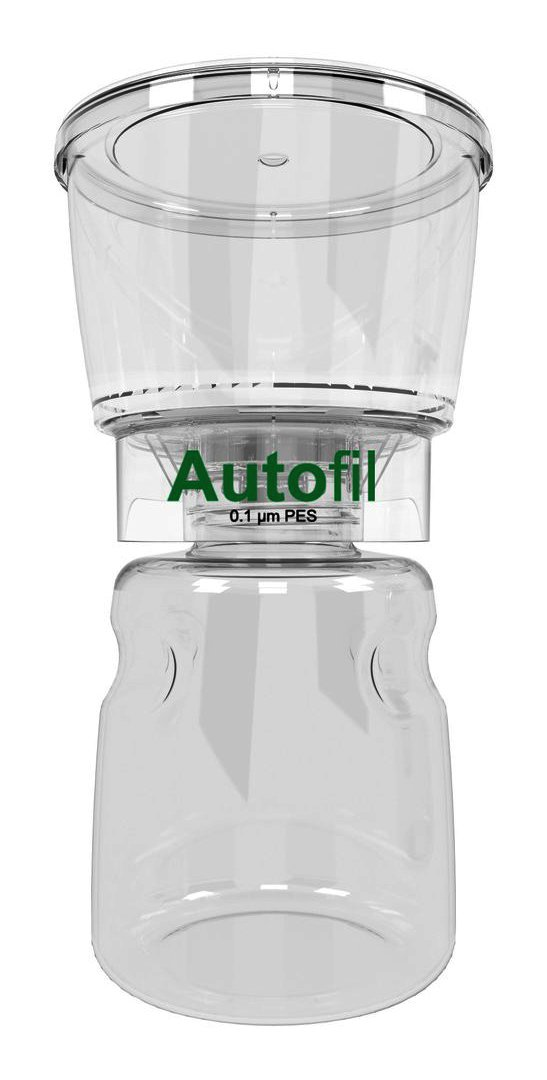 Autofil Sterile Disposable Vacuum Filter Units with 0.1um Mycoplasma Removal PES Membrane, 500mL, 12/CS