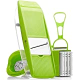 Premium Mandoline Slicer - Kitchen Potato Slicer - Vegetable Grater - Food Slicer - Mandolin - Julienne Vegetable Slicer - Cutter for Cucumber, Onion, Cheese with 5 Stainless Steel Blades
