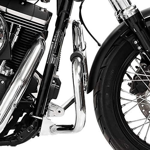 Sturzb/ügel f/ür Harley Davidson Dyna Super Glide Custom 06-15 Craftride Mustache Chrom