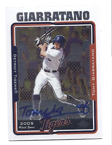 - TONY GIARRATANO 2005 Topps Chrome #250 AUTOGRAPH Rookie Card RC Detroit Tigers Baseball