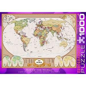 Eurographics 01272 Mappamondo Puzzle 1000 Pezzi