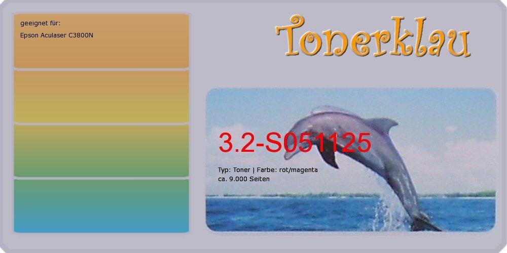 Kompatibel Toner 3.2-S051125 für  Epson Aculaser C3800N als Ersatz für Epson S051125