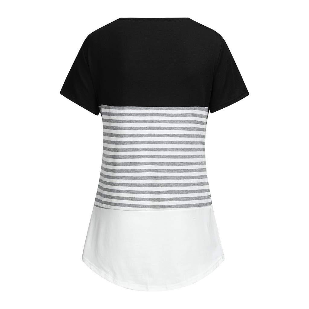 Solike V/êtement de Maternit/é Grossesse Rayure Tops de Maternit/é /à Manches Courte Enceinte Femme Maternit/é Tee Shirt de Grossesse ❤ T-Shirt de La Allaitement
