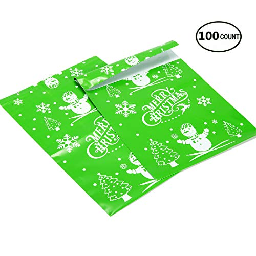 (Pack4Life 10x13 Christmas Poly Mailers with Snowman Christmas Tree Patterns Holiday Self Sealing Shipping Envelopes Bags Pack of 100)