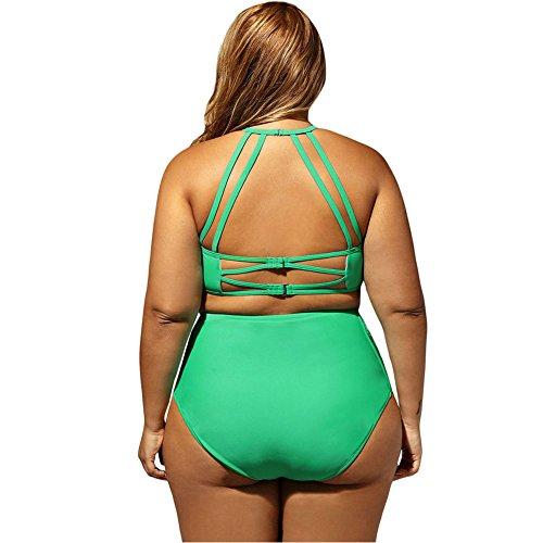 Mujer Traje de Baño Encaje Bikini Talla Grande Ropa de Baño Bikini para Verano Verde