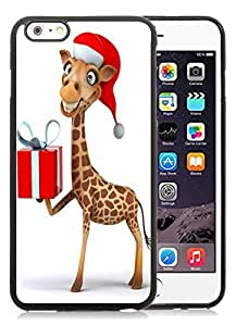 Personalized iPhone 6 Plus Case,Christmas giraffe Black iPhone 6 Plus 5.5 TPU Case 1