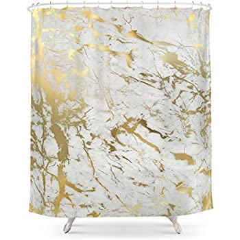 Society6 Gold Marble Shower Curtain 71 By