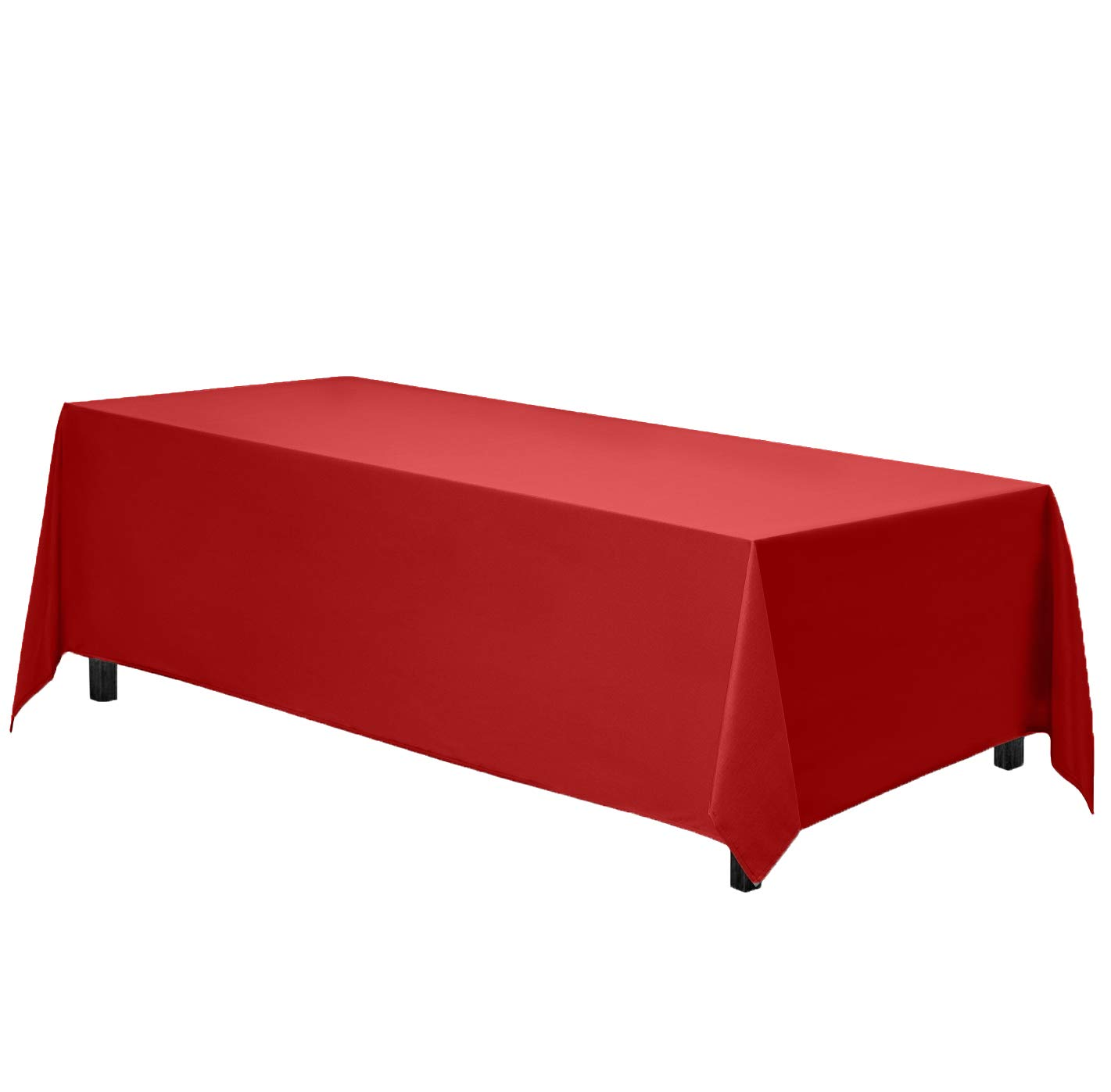 Gee Di Moda Rectangle Tablecloth - 70 x 120 Inch - Red Rectangular Table Cloth in Washable Polyester - Great for Buffet Table, Parties, Holiday Dinner, Wedding & More