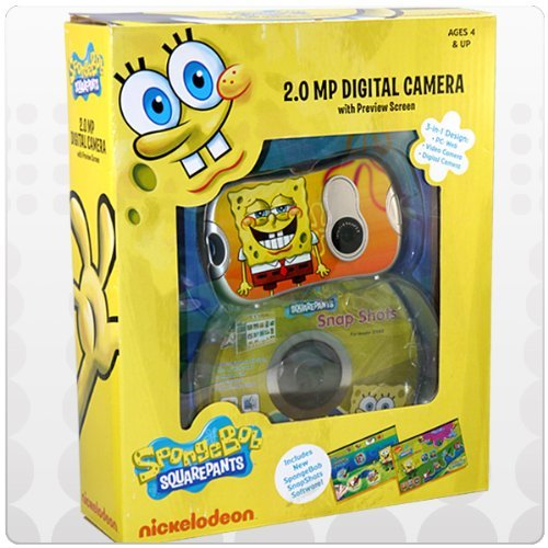 (Nickelodeon SpongeBob Digital Camera with 1.4-Inch LCD Screen - Yellow (27062))
