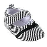 Luvable Friends Girl's Bow Dress Shoe (Infant), Black, 0-6 Months M US Infant