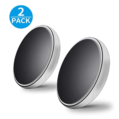 Magnetic Phone Car Mount Magnetic Car Holder Universal Stick on Dashboard Extra Slim Magnetic Car Mount for All Cellphone 2Pack Silver
