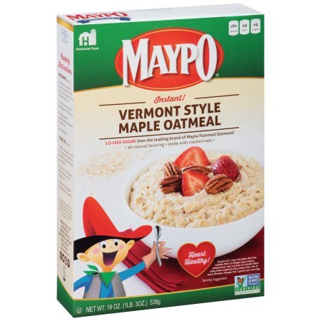 Homestate Farms Maypo Instant Vermont Style Maple Oatmeal Cereal, 19 Ounce -- 12 Per Case. By Maypo by Maypo