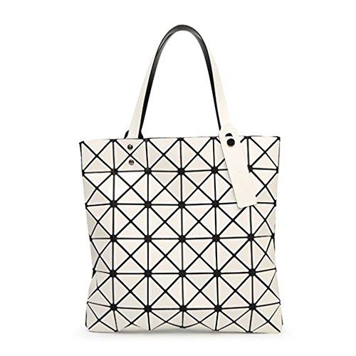 Geometry Spalla Lattice Borsa Diamond Donne Sacchetti Bao Shopper Di Laser Ivory Tote 15 A Colori Ivory Pieghevole Shimmer Tracolla OxpzwwqCE