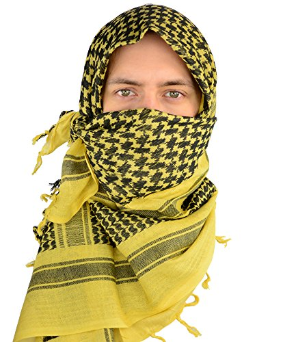 Mato & Hash Military Shemagh Tactical 100% Cotton Scarf Head Wrap - Desert Sand CA2100 - 2