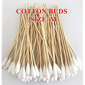Cotton Buds 100 Pieces 6″ Bamboo Handle Great for Dog Ears,Premium 100% Cotton (Medium Size) by Prime Shopping Online