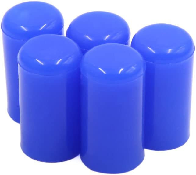 """uxcell 5Pcs 10mm 3/8"""" Silicone Blanking Cap Intake Vacuum Hose Tube End Bung Blue"""