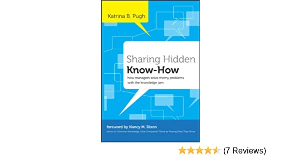 Sharing Hidden Know-How: How Managers Solve Thorny Problems With the