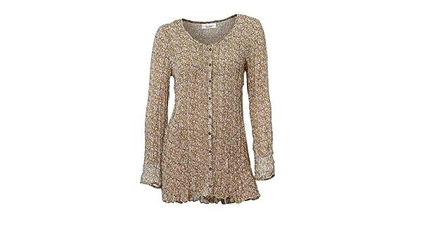 Opaco Camisas Túnica Mujer Linea Para Multicolor 44 Tesini qH7waxSt1