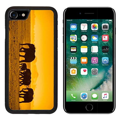 - MSD Apple iPhone 8 Case Aluminum Backplate Bumper Snap Case Silhouettes of Elephants amboseli National Park Kenya Image 5380911 Customized Tablemat