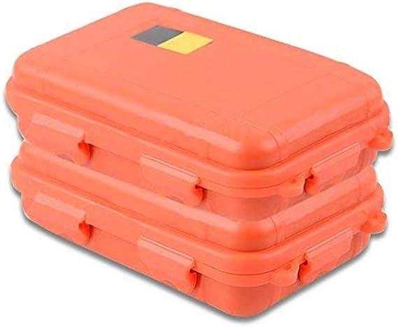 Bangxiu Caja estanca al Aire Libre a Prueba de Agua Anti-vibración Caja de Almacenamiento a Prueba de Agua a Prueba de presión Caja de Almacenamiento Caja sellada (Grande) (Color : Naranja): Amazon.es: