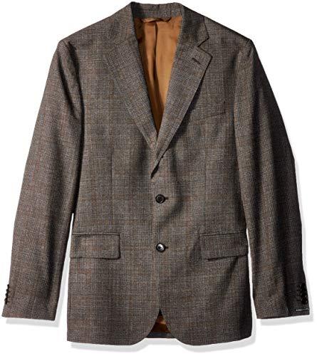 J.Lindeberg Men's Italian Wool Blazer, Bison, 44