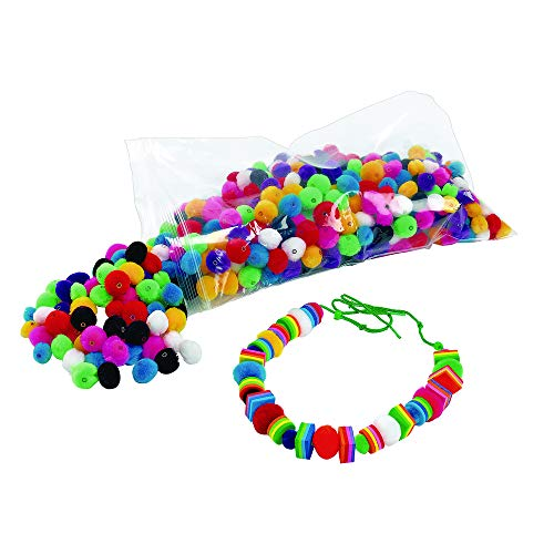 Colorations Fluffy Pom-Pom Beads Pack of 500 (Item # POMBD500) ()