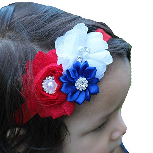 Lebo Baby Girl 4th of July Headbands with Bows