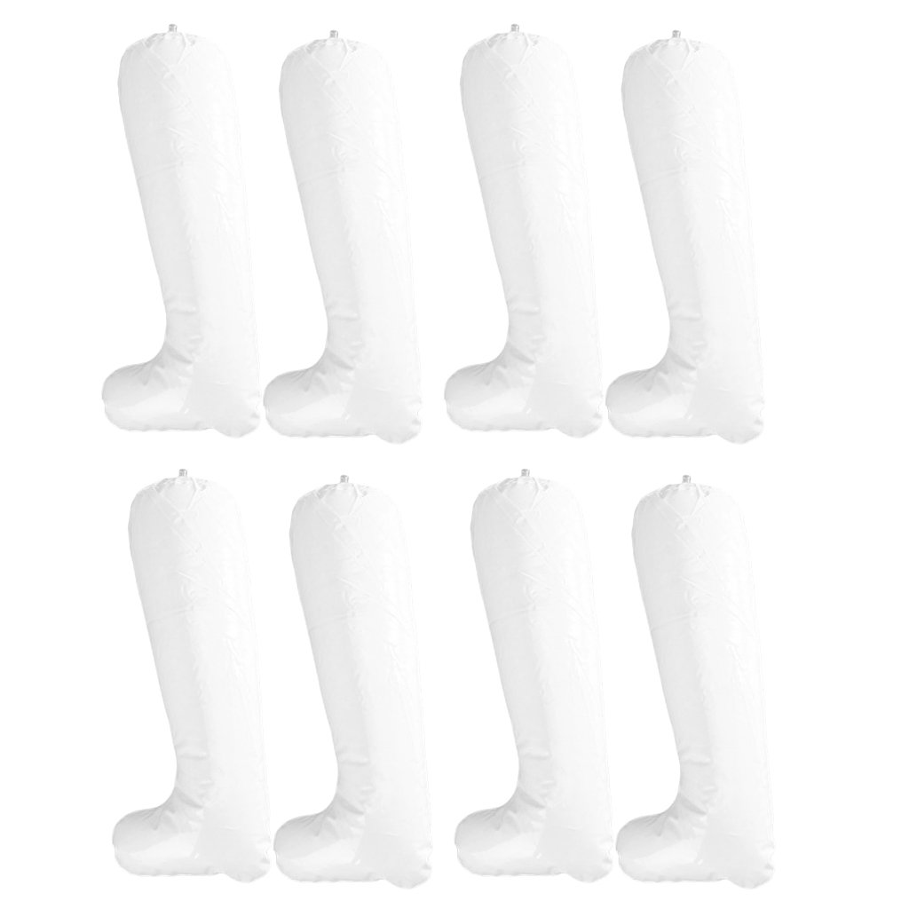 4 Pairs of 12 Inch White Film Inflatable Boot Stretcher Shaper Shoe Tree Unknown STK0115004461