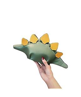 Aoile Children Women Cartoon 3D Funny Dinosaur Animal Single Shoulder Bag Green