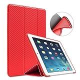 iPad Mini 1/2/3 Case,GOOJODOQ Smart Cover With Magnetic Auto Sleep/Wake Function PU Leather Shockproof Silicon Soft TPU Folio Case For Apple iPad Mini 1/2/3 in Red